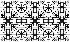 Imaginesque: Blackwork Cut Gems Fill Pattern