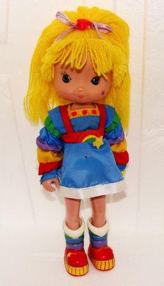 Vintage 80s Rainbow Brite Plastic Doll