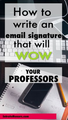 I want to share the simplest trick you can do to stand out among your  classmates and get noticed by your professors as a student who's something  more than a student -- a doer, a go-getter, a professional.  It's your email signature, and it can do a lot of bragging for you and  spare you the trouble. Want to ask for project extensions without dropping  a grade? Want to be nominated for scholarships and speaking opportunities?  Want to be a crazy college success? Read on...