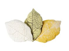 White Cream Leaf PIllow