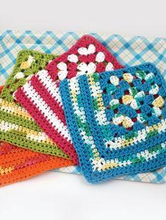 Granny Corner Dishcloth | Yarn | Free Knitting Patterns | Crochet Patterns | Yarnspirations