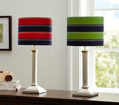 Rugby Stripe Shade & Mason Touch Base #PotteryBarnKids