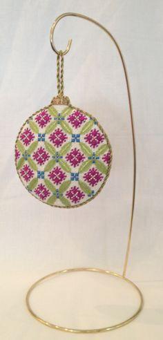 Florentine Bauble Needlepoint Christmas Ornament by Kirk & Bradley