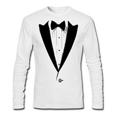 Tuxedo Men's Long Sleeve T-Shirt by Next Level by Spreadshirt, XL, white - Brought to you by Avarsha.com