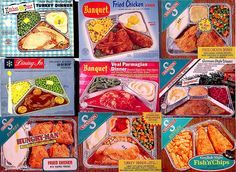 TV Dinners in Aluminum Trays.I loved the Swanson fried chicken dinner as a kid and saved the trays too! Retro Recipes, Vintage Recipes, My Childhood Memories, Sweet Memories, 1970s Childhood, Childhood Images, School Memories, Childhood Toys, Vintage Advertisements