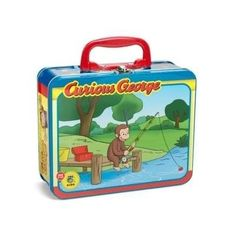 This Curious George Fishing Puzzle Tin was discontinued by Pressman a few months ago and is now a collectors item. We still have a few available in store at The World's Only Curious George Store.