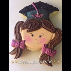 Little Graduates in the works! #cookiesofinstagram #missdoughmestic…