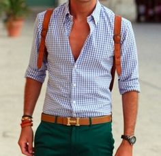 Green with tan