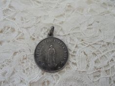 Antique religious pendant real silver by Nkempantiques on Etsy