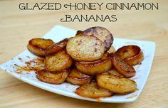 Glazed Honey Cinnamon Bananas
