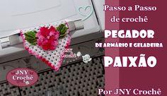 PAP Pegador de armário e geladeira de crochê PAIXÃO por JNY Crochê