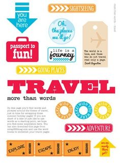 Free Travel Themed Printable from Scrap 365