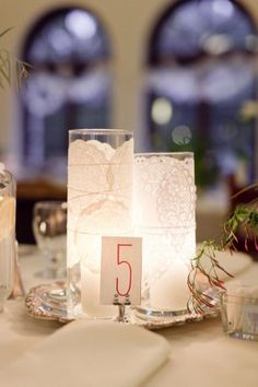 Dolie candles at table no.5