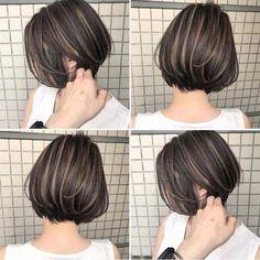 Pin on ヘアスタイル Asian Short Hair, Short Hair Cuts, Pretty Hairstyles, Bob Hairstyles, Shot Hair Styles, Short Bob Haircuts, Asian Bob Haircut, Hair Highlights, Hair Dos