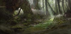 Forest, Titus Lunter on ArtStation at https://www.artstation.com/artwork/W2zAX