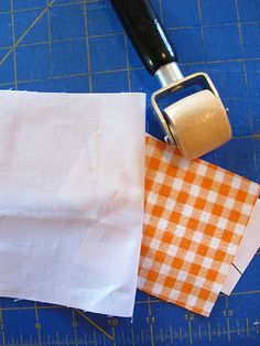 A seam roller - much more accurate than finger pressing // photo and paper piecing tutorial from Penny of sewtakeahike via Sew Mama Sew; look in the wall paper section of the hardware store