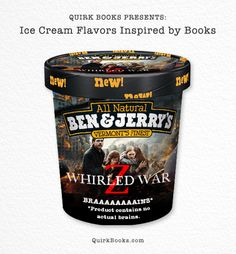 If it is book inspired then why is the artwork from the movie that has nothing to do with the book? Gummy worms are a win though. Keep Cool this National Ice Cream Month with Book-Inspired Flavors! Ben Und Jerrys, National Ice Cream Month, Evil Dead, Chocolate Frog, Cereal Killer, Love Ice Cream, Strawberry Ice Cream, Ice Cream Flavors, Vanilla