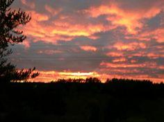 September sunset over Kingsford