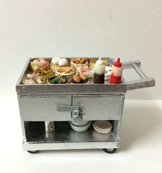 Miniature dim sum cart