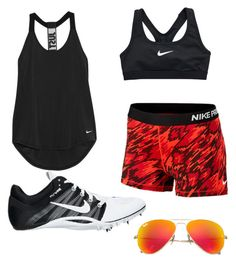 """track"" by syd-squid-1 on Polyvore featuring NIKE and Ray-Ban"