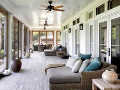 Richard Gere Strongheart Manor - Richard Gere Hamptons Home - House Beautiful Screened Porch Designs, Home, House With Porch, Relaxation Room, New Homes, Hamptons House, House, Room Additions, Celebrity Houses
