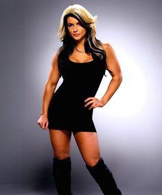 Kaitlyn - Celeste Bonin, one of the female fitness stars that have made the transition to pro wrestling