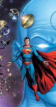 Doomsday Clock - Superman variant cover by Gary Frank * Mundo Superman, Supergirl Superman, Superman Art, Superman Man Of Steel, Batman, Comic Books Art, Book Art, Dc Comics, Cosmic Comics