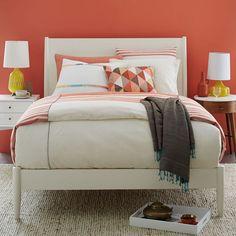 Mid-Century Bed - White