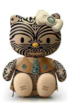 """new zealand maori hello kitty!   Nice!!! They misappropriate the Maori culture just like they misappropriate the indigenous cultures here in Canada!"""