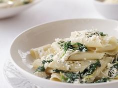 Spinach and Ricotta Pappardelle   Chef Way Lidia Bastianich stuffs homemade ravioli with ricotta, leeks, scallions and spinach, then serves it in a butter-sage sauce. Easy Way Decon...