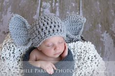 Peanuts  Newborn/Baby Elephant Hat  Made to by YarnOverCrochet, $22.00