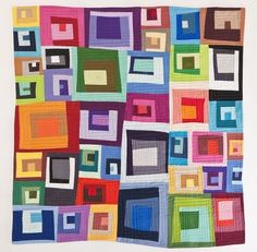 "This is the spectacular ""Little Boxes"" quilt that won Best In Show by Alaskan quilter, Maria Shell."