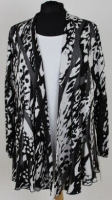 Personal Choice black and white patterned jacket. http://www.middletonwood.co.uk/