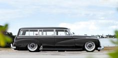 Sweet old Mercedes wagon... slightly lowered and customized...