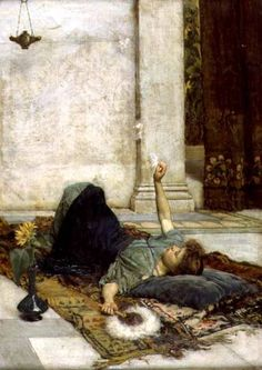 John William Waterhouse - The White Feather Fan