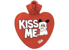 """HELLO SPANK BORSA ACQUA CALDA KISS ME  Per riscaldare il tuo cuore� Borsa dell'acqua calda Hello Spank love in plastica di colore rosso con dedica """"KISS ME"""""""