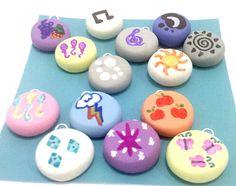 CUSTOM My Little Pony Friendship is Magic Cutie Mark Charms Cellphone, Key chain, Necklace. $7.50, via Etsy.