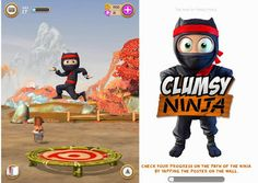 Clumsy Ninja iOS Game Cover
