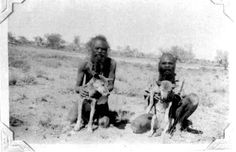 Image Two Aboriginal men with dingoes, Northern Territory Administration Report Lake Mackay Expedition, June/July - Commonwealth Government Records about the Northern Territory Aboriginal Man, Aboriginal Culture, Aboriginal People, Australian Aboriginal History, Stone Age People, Australian People, Australian Animals, Australian Aboriginals, Bird People