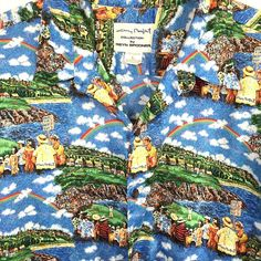 Reyn Spooner Guy Buffet Collection Hawaiian Aloha Shirt Mens Large Golf Rainbow  #ReynSpooner #HawaiianButtonFront