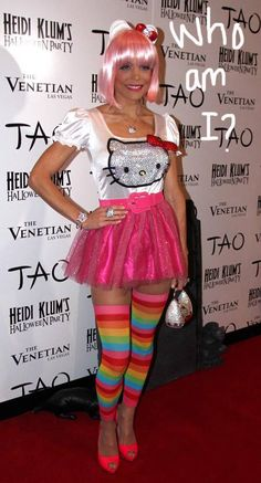 Bethenny Frankel is a cross between Hello Kitty, Rainbow Brite, and Katy Perry for Halloween.