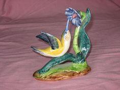 Vintage Figurine Bird Ceramic Figurine Brown Bird Bird