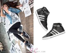 low priced 6b2ce 7f5b6 Selena Gomez relaxed in her adidas NEO Fall 2013 collection photoshoot  wearing a pair of NEO