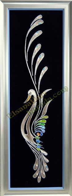 filografi - Google'da Ara Paper Embroidery, Embroidery Designs, Arte Linear, Let's Make Art, Stained Glass Paint, String Crafts, String Art Patterns, Thread Art, Picture On Wood