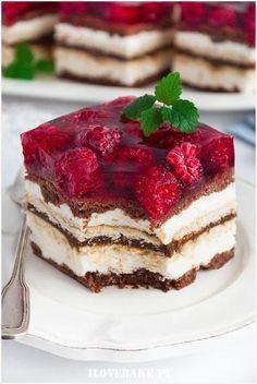 Ciasto Balladyna - I Love Bake Food Cakes, Cupcake Cakes, Lemon Cheesecake Recipes, Dessert Cake Recipes, Delicious Desserts, Yummy Food, Polish Recipes, Love Food, Sweet Recipes