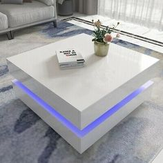 HIGH GLOSS BLACK Coffee Table with LED Lighting - Tiffany Range TIFF010 - £229.97 | PicClick UK Coffee Table High Gloss, Black Coffee Tables, Unique Coffee Table, Award Winning Websites, Low Shelves, Step By Step Instructions, Consumer Electronics, The Help, Tiffany
