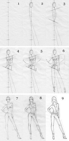 Guide for drawing a body