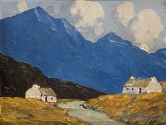 View Cottages in the west by Paul Henry on artnet. Browse upcoming and past auction lots by Paul Henry. Abstract Landscape, Landscape Paintings, Watercolor Paintings, Landscapes, Ireland Pictures, Images Of Ireland, Irish Painters, Irish Art, Building Art
