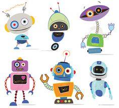 Robots Clipart Clip Art Cute Robots Party by MayPLDigitalArt, $7.50