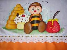 Resultado de imagem para pintura em tecido abelha